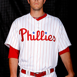 February 22, 2011; Clearwater, FL, USA; Philadelphia Phillies pitcher Michael Stutes (68) poses during photo day at Bright House Networks Field. Mandatory Credit: Derick E. Hingle