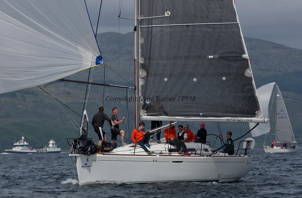 Silvers Marine Scottish Series 2017<br /> Tarbert Loch Fyne - Sailing Day 3<br /> <br /> GBR3627L, Animal, Kevin Aitken, CCC/RNCYC, First 36.7