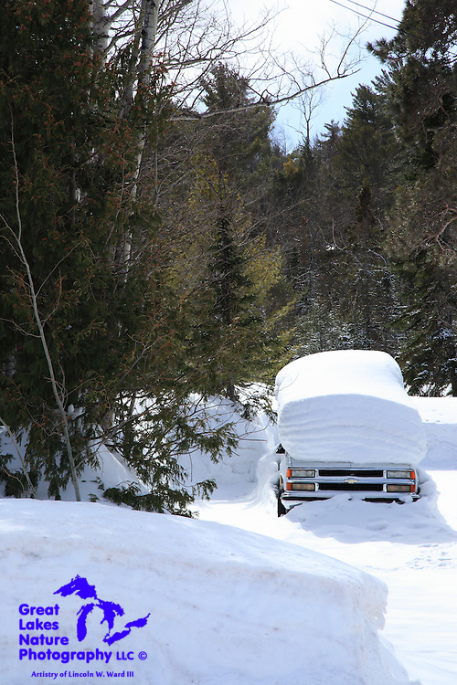 What can I say ... if you leave your truck in one place in Copper Harbor for very long, strange things can happen.