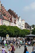 Ludwigsplatz, Stadtplatz, Straubing, Donau, Bayerischer Wald, Bayern, Deutschland | Ludwig square, Stadtplatz, town square, Straubing, Danube, Bavarian Forest, Bavaria, Germany