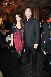 PETE TONG and his wife CAROLINA at a party to celebrate the 135th anniversary of The Criterion restaurant, Piccadilly, London held on 2nd February 2010.