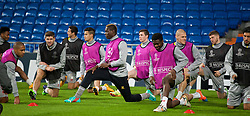 MADRID, SPAIN - Monday, November 3, 2014: Liverpool's Mario Balotelli during a training session at the Estadio Santiago Bernabeu ahead of the UEFA Champions League Group B match against  Real Madrid CF. (Pic by David Rawcliffe/Propaganda)