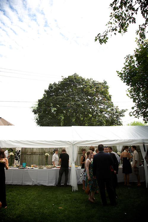 Cameron and Evelyne celebrate their wedding with friends and family at their home on August 22nd, 2009