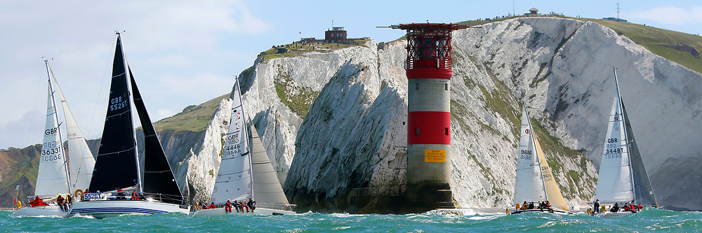 Isle of Wight, Cowes, Round the Island Race, J P Morgan, 2016, GBR 5526T GBR 4448 9616 GBR 3448T Isle of Wight, UK, Quickstep, Chaser,