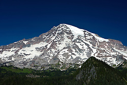 Mount Rainier with glaciers and snow, Mt. Rainier National Park, Washington, United States of America