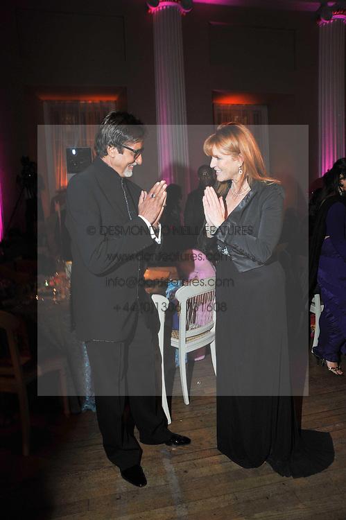Bollywood superstar Amitabh Bachcha and SARAH, DUCHESS OF YORK at the Royal Rajasthan Gala 2009 benefiting the Indian Head Injury Foundation held at The Banqueting House, Whitehall, London on 9th November 2009.
