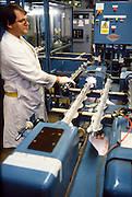 Magnox fuel rod production.  BNFL Springfields site. 26-06-1987