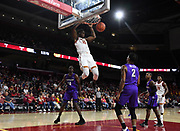 Nov 8, 2019; Los Angeles, CA, USA; Southern California Trojans forward Onyeka Okongwu (21) dunks the ball in the second half against the Portland Pilots at Galen Center USC defeated Portland State 76-65.