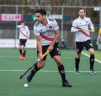 AMSTELVEEN - Valentin Verga (Adam)      tijdens de hoofdklasse hockeywedstrijd Amsterdam-HC Rotterdam (7-1).    COPYRIGHT KOEN SUYK