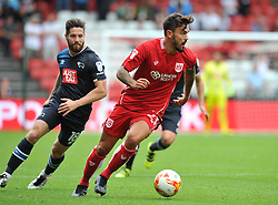 Marlon Pack of Bristol City in action during the Sky Bet Championship match between Bristol City and Derby County at Ashton Gate Stadium - Mandatory by-line: Paul Knight/JMP - 17/09/2016 - FOOTBALL - Ashton Gate Stadium - Bristol, England - Bristol City v Derby County - Sky Bet Championship