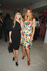 Left to right, GELA TAYLOR and YASMIN LE BON at a reception hosted by Vogue magazine to launch photographer Tim Walker's book 'Pictures' sponsored by Nude, held at The Design Museum, Shad Thames, London SE1 on 8th May 2008.<br />