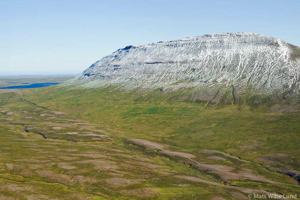 Fjall remote farmsite, mount Fjallsoxl,  viewing northeast, Skagabyggd former Skagahreppur