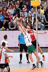 11-04-2015 NED: PKC SWKgroep - TOP Quoratio, Rotterdam<br /> Korfbal Leaguefinale in een volgepakt Ahoy wordt gewonnen door PKC met 22-21 / Friso Bode, Johannis Bode