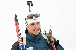 Joze Mehle of Slovenian Men Biathlon Team at Dachstein glacier before new season 2008/2009, Austria, on October 30, 2008.  (Photo by Vid Ponikvar / Sportida)