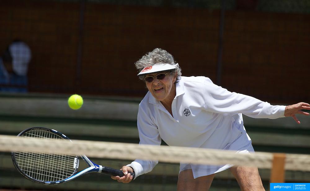 Rita Price, USA, winning  the 80 Womens Singles Final during the 2009 ITF Super-Seniors World Team and Individual Championships at Perth, Western Australia, between 2-15th November, 2009