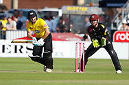 Gloucestershire's Ryan Higgins <br /> <br /> Photographer Simon King/Replay Images<br /> <br /> Vitality Blast T20 - Round 1 - Somerset v Gloucestershire - Friday 6th July 2018 - Cooper Associates County Ground - Taunton<br /> <br /> World Copyright © Replay Images . All rights reserved. info@replayimages.co.uk - http://replayimages.co.uk