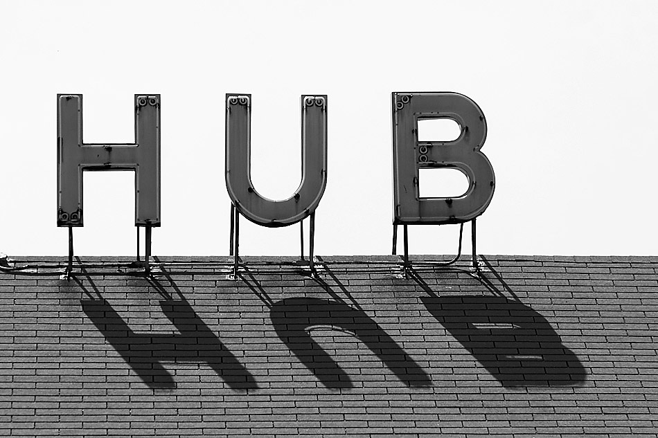 The Hub was a ballroom in Edelstein, IL. This was taken in 2007, and it has since burnt down.