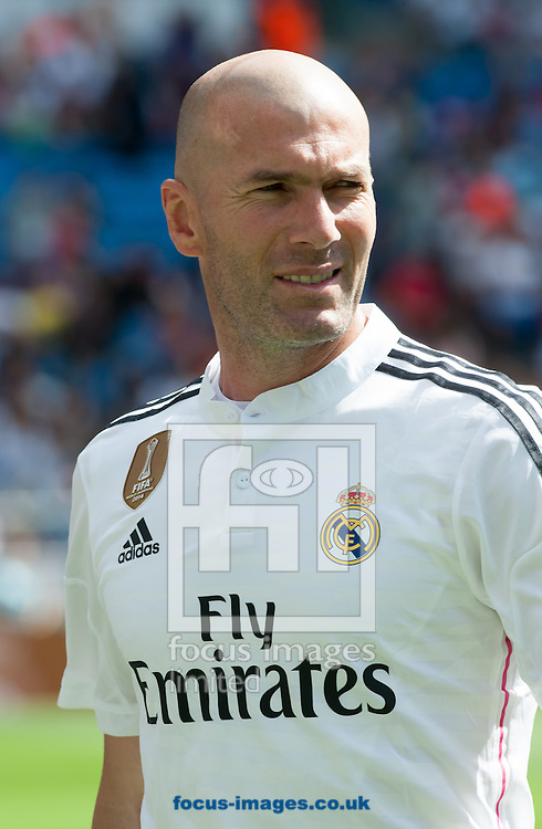 Zidane of Real Madrid Legends during the friendly match at the Estadio Santiago Bernabeu, Madrid<br /> Picture by Marcos Calvo Mesa/Focus Images Ltd +34 654142934<br /> 14/06/2015