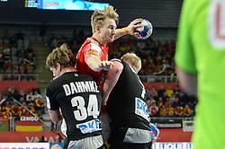 handball match between National teams of Germany and Denmark on Day 4 in Main Round of Men's EHF EURO 2018, on January 21, 2018 in Arena Varazdin, Varazdin, Croatia. Photo by Mario Horvat / Sportida