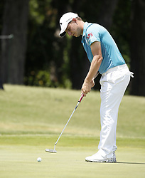 May 25, 2018 - Fort Worth, TX, USA - Emiliano Grillo putts on hole number 12 during the second day of the Invitational at Colonial Friday, May 25, 2018 in Fort Worth, Texas. (Credit Image: © Brad Loper/TNS via ZUMA Wire)