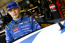March 10, 2018 - Avondale, Arizona, United States of America - March 10, 2018 - Avondale, Arizona, USA: Kyle Larson (42) hangs out in the garage during practice for the Ticket Guardian 500(k) at ISM Raceway in Avondale, Arizona. (Credit Image: © Chris Owens Asp Inc/ASP via ZUMA Wire)