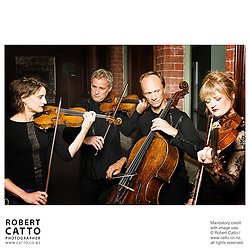 Helene Pohl;Douglas Beilman;Rolf Gjelsten;Gillian Ansell (New Zealand String Quartet)  at Victoria University, Wellington, New Zealand.