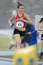 \491\ competing in the women's distance medley relay at the 2007 OTFA Junior-Senior Championships in Ottawa.
