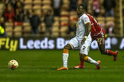 Moses Odubajo (Hull City) passes infield during the Sky Bet Championship match between Middlesbrough and Hull City at the Riverside Stadium, Middlesbrough, England on 18 March 2016. Photo by Mark P Doherty.