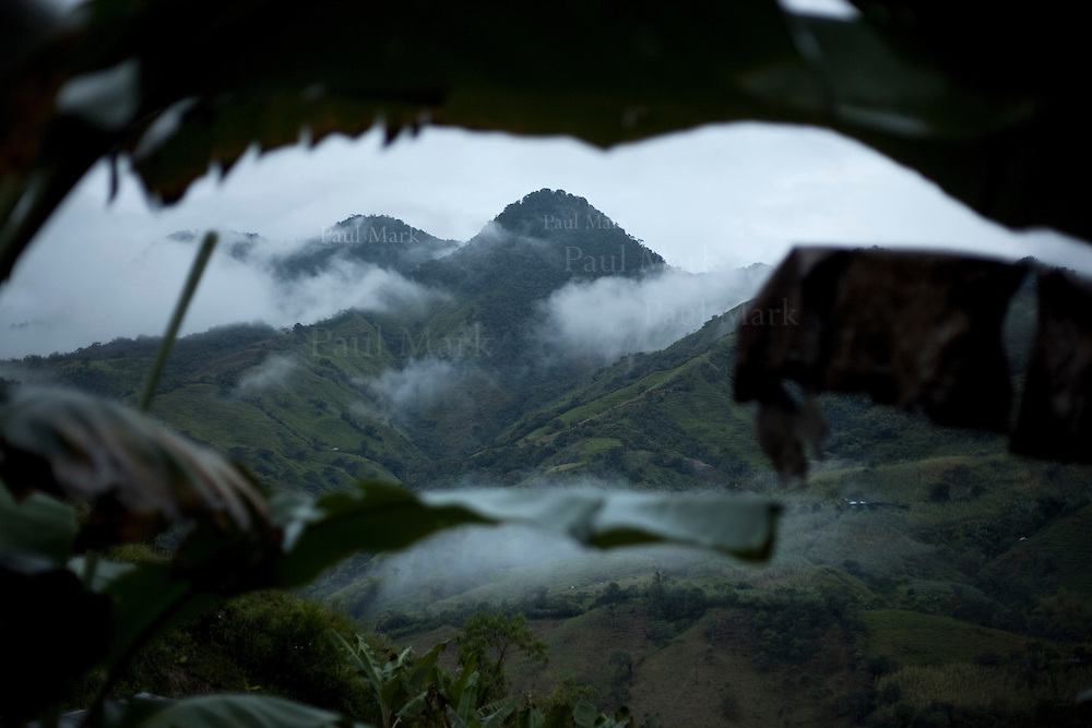Forested hills in Nari&ntilde;o Department where the indigenous Aw&aacute; live. Since 2002 the region has become a scene of conflict as guerrillas, the Colombian Army and drugs cartels battle for territorial control.<br /> <br /> Nari&ntilde;o, Colombia