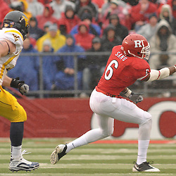 Dec 5, 2009; Piscataway, NJ, USA; Rutgers wide receiver Mohamed Sanu (6) watches a pass bounce away from his hands during first half NCAA Big East college football action between Rutgers and West Virginia at Rutgers Stadium.