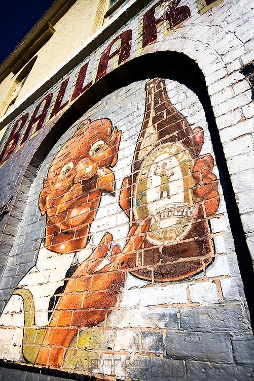 Ballarat Bertie Sign advertising brand of beer in Ballarat