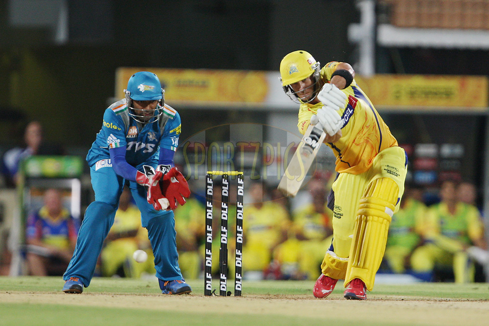 Faf du Plessis during match 24 of the the Indian Premier League ( IPL) 2012  between The Chennai Superkings and the Pune Warriors India held at the M. A. Chidambaram Stadium, Chennai on the 19th April 2012..Photo by Jacques Rossouw/IPL/SPORTZPICS