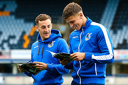 Tom Lockyer of Bristol Rovers and Tom Broadbent of Bristol Rovers arrive at Adams Park for the Sky Bet League One fixture against Wycombe Wanderers - Mandatory by-line: Robbie Stephenson/JMP - 18/08/2018 - FOOTBALL - Adam's Park - High Wycombe, England - Wycombe Wanderers v Bristol Rovers - Sky Bet League One