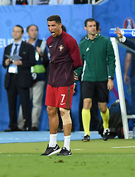 Cristiano Ronaldo of Portugal reacts on the side of the pitch  - Mandatory by-line: Joe Meredith/JMP - 10/07/2016 - FOOTBALL - Stade de France - Saint-Denis, France - Portugal v France - UEFA European Championship Final