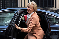 © Licensed to London News Pictures. 16/10/2018. London, UK. Leader of the House of Commons Andrea Leadsom arrives on Downing Street for the Cabinet meeting. Prime Minister Theresa May faces a possible rebellion from members of the Cabinet over her plans for Brexit. Photo credit: Rob Pinney/LNP