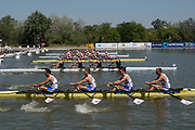 Plovdiv BULGARIA. 2017 FISA. Rowing World U23 Championships.  <br /> <br /> GBR BM4X. Bow.  LEASK, Harry, LAW, Rowan, GLENISTER, Harry and JOEL, Andrew<br />  Thursday AM. Heats 11:05:34  Thursday  20.07.17   <br /> <br /> [Mandatory Credit. Peter SPURRIER/Intersport Images].
