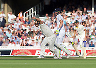 Mitchell Johnson of Australia bowling during the 5th Investec Ashes Test Match match at the Kia Oval, London<br /> Picture by Alan Stanford/Focus Images Ltd +44 7915 056117<br /> 21/08/2015