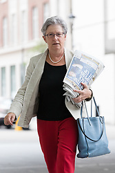 © Licensed to London News Pictures. 23/07/2017. LONDON, UK.  GISELA STUART MP arrives at BBC Broadcasting House to appear on the Andrew Marr Show.  Photo credit: Vickie Flores/LNP