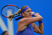 Petra Kvitova of the Czech Republic is through to the final after winning her match against Lucie Safarova of the Czech Republic who has retired during the Aegon Classic Birmingham at Edgbaston Priory Club, Edgbaston, United Kingdom on 24 June 2017. Photo by Martin Cole.