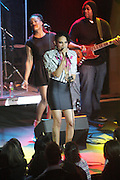 Goapele performs at Goapele Live Produced by Jill Newman Productions held at Highline Ballroom on December 28, 2009 in New York City. Terrence Jennings/Retna, Ltd