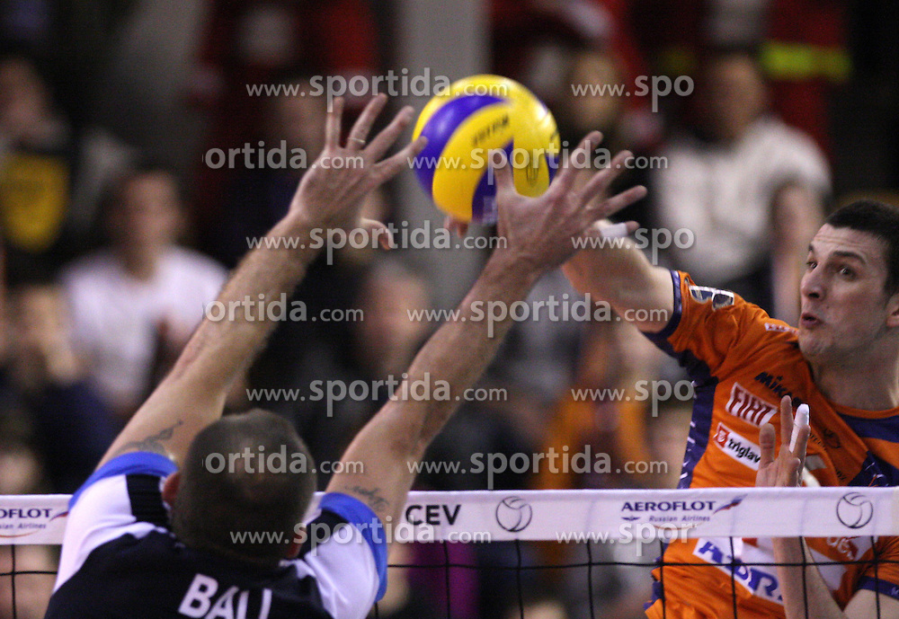 Mitja Gasparini at 8th final volleyball match of CEV Indesit Champions League Men 2008/2009 between ACH Volley Bled (SLO) and Zenit Kazan (RUS), on February 12, 2009 in Hall Tivoli, Ljubljana, Slovenia. (Photo by Vid Ponikvar / Sportida)