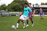 Forest Green Rovers Reuben Reid(26) holds the ball up during the EFL Sky Bet League 2 match between Forest Green Rovers and Port Vale at the New Lawn, Forest Green, United Kingdom on 8 September 2018.