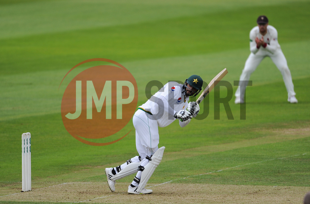 Shan Masood of Pakistan in action.  - Mandatory by-line: Alex Davidson/JMP - 03/07/2016 - CRICKET - Cooper Associates County Ground - Taunton, United Kingdom - Somerset v Pakistan - Pakistan in England Tour Matches 2016