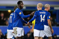 Everton's Romelu Lukaku celebrates after scoring his sides first goal - Photo mandatory by-line: Matt McNulty/JMP - Mobile: 07966 386802 - 26/02/2015 - SPORT - Football - Liverpool - Goodison Park - Everton v Young Boys - UEFA EUROPA LEAGUE ROUND OF 32 SECOND LEG