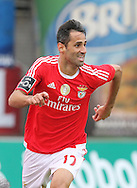 Benfica's player Jonas celebrates after scoring a goal, during the Portuguese First League football match Nacional vs Benfica held at Madeira Stadium, Funchal, Portugal, 10 January, 2016.  LUSA / GREGORIO CUNHA