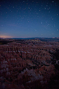Bryce Canyon at night from the Rim Trail - Utah
