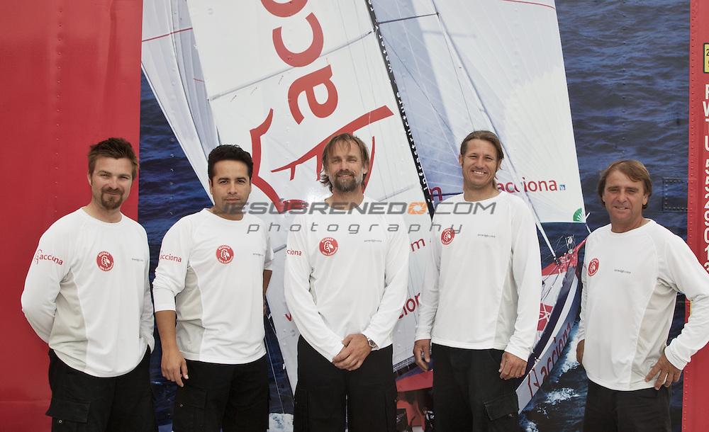 ACCIONA 100% EcoPowered.<br /> Left to right : Pedro Mas , Eduardo Valderas , javier Sanso , Tim Hardy , Pachi Rivero