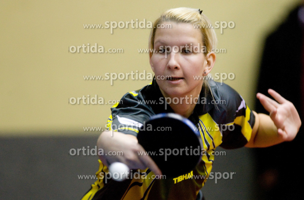 Manca Fajmut of Slovenia during Women 1st Round of 11th International Slovenia Open 2010 table tennis tournament, on January 21, 2010 at Red hall in Velenje, Slovenia. (Photo by Vid Ponikvar / Sportida)
