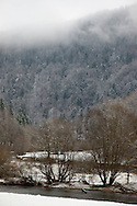new year holidays In the Doubs river valley - France  /  nouvel an et cacances  dhiver dans la valle du Doubs en france