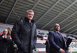 Cardiff City Manager, Ole Gunnar Solskjær arrivals at the Liberty Stadium    - Photo mandatory by-line: Alex James/JMP - Tel: Mobile: 07966 386802 08/02/2014 - SPORT - FOOTBALL - Swansea - Liberty Stadium - Swansea City v Cardiff City - Barclays Premier League